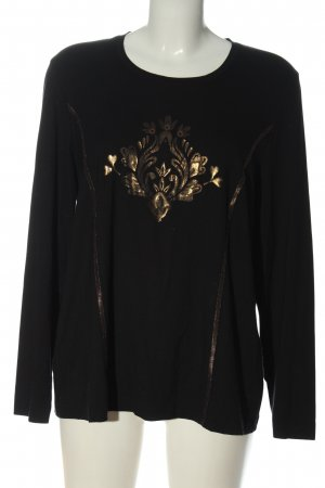 Eugen Klein Print Shirt black-gold-colored themed print casual look