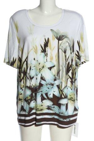 Eugen Klein Boatneck Shirt allover print casual look