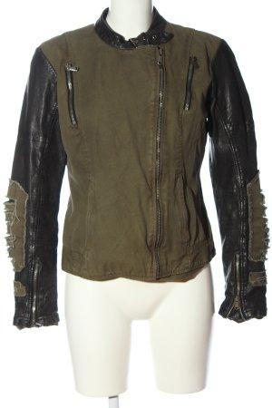 Euphoria Biker Jacket khaki-black casual look