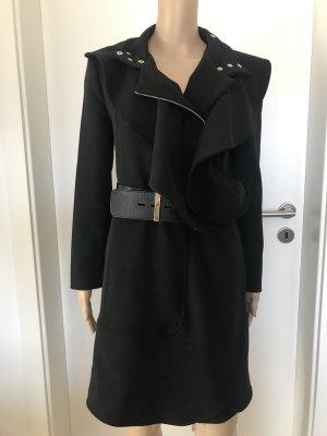 Eureka Mantel in Schwarz mit Gürtel