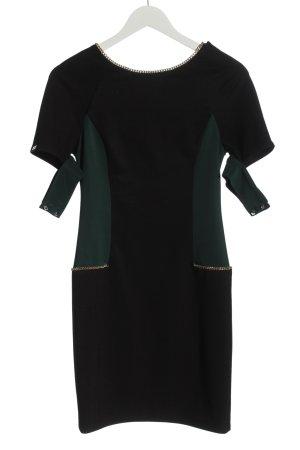 Eureka Minikleid schwarz-grün Elegant
