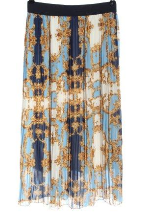 Euromoda Pleated Skirt allover print casual look