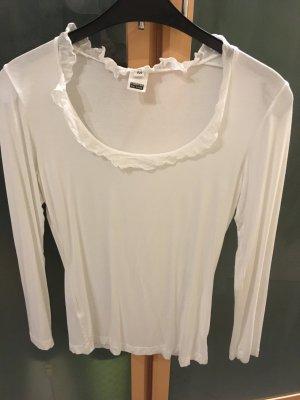 European Culture Haut long blanc tissu mixte