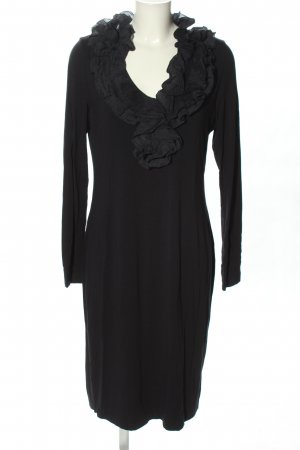 European Culture Jerseykleid schwarz Elegant