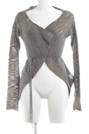 European Culture Strickjacke taupe Casual-Look