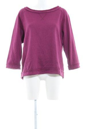 European Culture Sweatshirt violett Casual-Look