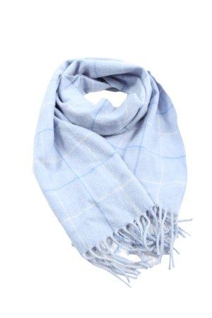 Euseg Écharpe en cachemire bleu-blanc motif à carreaux style décontracté