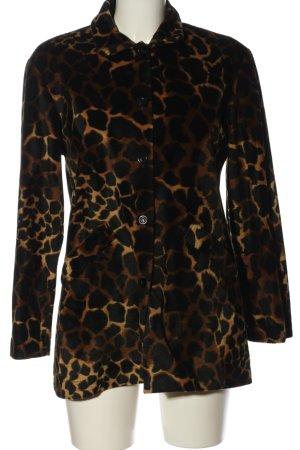 Eva B.Bitzer Veste safari brun-orange clair motif abstrait style décontracté