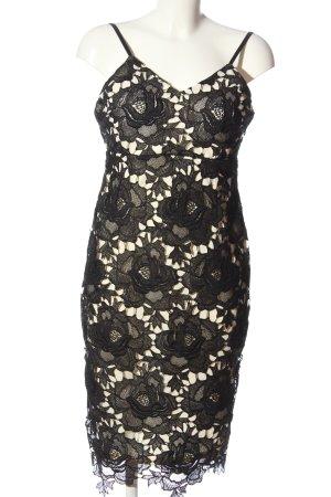 Eva & Lola Abendkleid schwarz-wollweiß Elegant