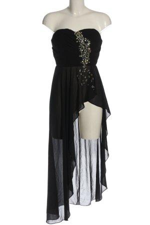 Eva & Lola Vokuhila-Kleid schwarz Elegant