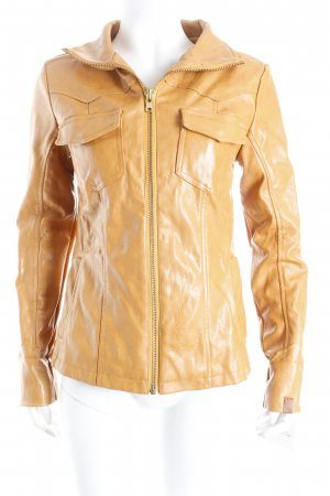 Evaw Wave jacke cognac Logo-Applikation