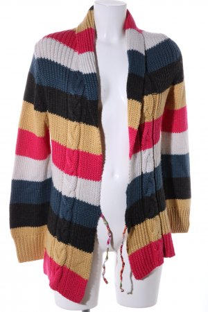 Evaw Wave Strickjacke Streifenmuster Casual-Look