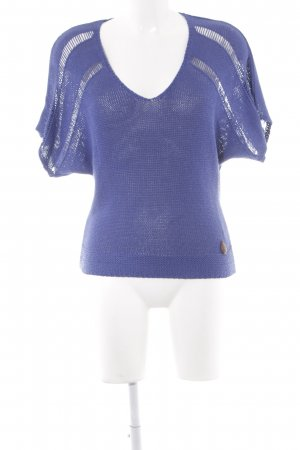 Evaw Wave Strickshirt blau Casual-Look