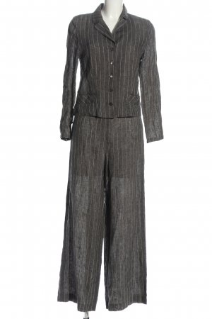 Evelin Brandt Berlin Pinstripe Suit light grey striped pattern business style