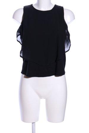 Even & Odd ärmellose Bluse schwarz Casual-Look