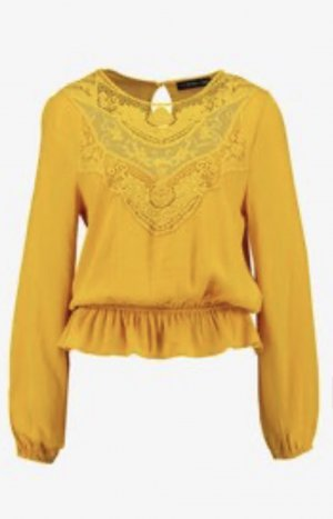 Even & Odd Lace Blouse dark yellow