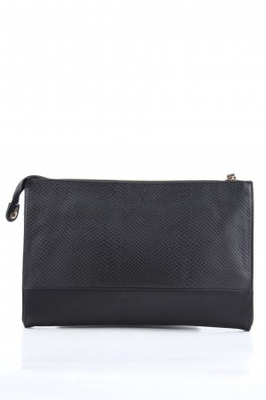 Even & Odd Clutch black animal pattern business style