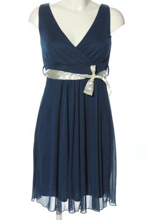 Even & Odd Cocktailkleid blau-silberfarben Elegant