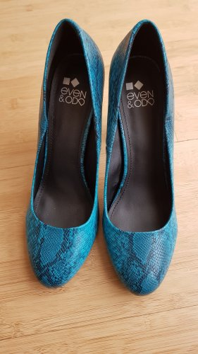 Even&Odd Damen High Heel Pumps Animal-türkis