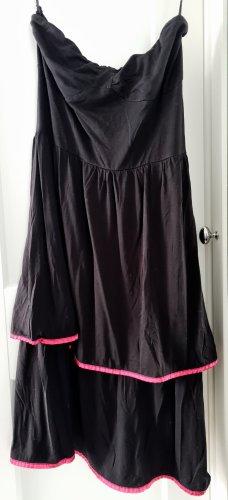 Even & Odd Off-The-Shoulder Dress black-magenta viscose