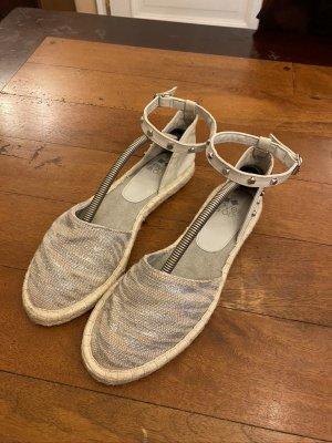 Even & Odd Espadrille Sandals silver-colored linen