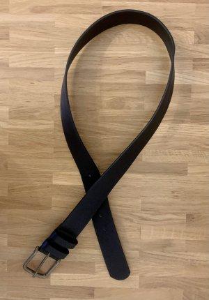 Even & Odd Cinturón de cuero de imitación negro-color bronce
