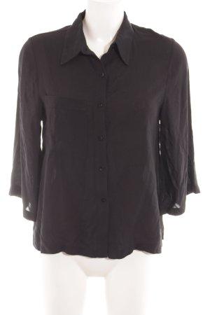 Even & Odd Hemd-Bluse schwarz schlichter Stil