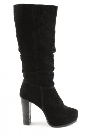 Even & Odd High Heel Stiefel schwarz Business-Look