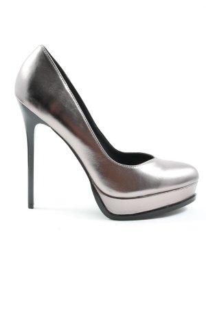 Even & Odd High Heels silberfarben Elegant