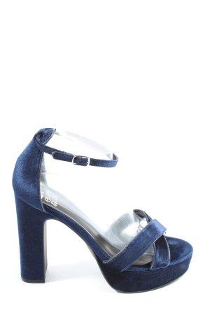 Even & Odd High Heels blau Casual-Look