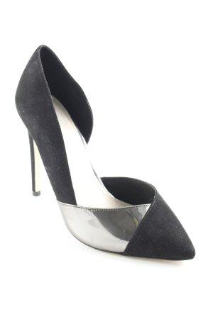 Even & Odd High Heels schwarz-silberfarben Elegant