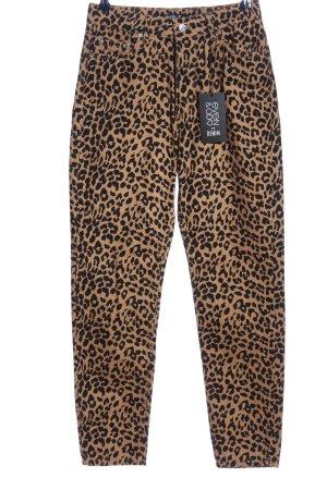 Even & Odd Jeans taille haute brun-noir motif léopard style décontracté