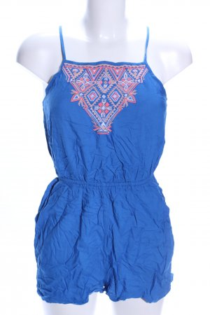 Even & Odd Jumpsuit blau grafisches Muster Casual-Look