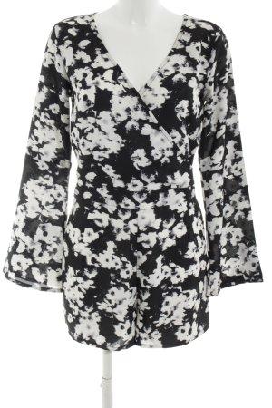 Even & Odd Jumpsuit schwarz-weiß abstraktes Muster Casual-Look