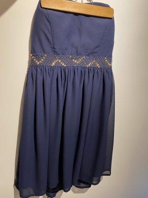 Even & Odd Off-The-Shoulder Dress dark blue-gold-colored