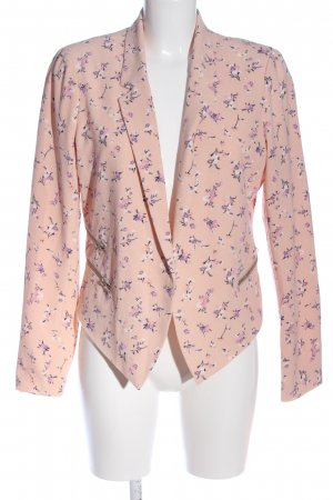 Even & Odd Kurz-Blazer pink-lila Allover-Druck Casual-Look