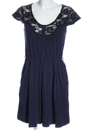 Even & Odd Kurzarmkleid blau-schwarz Elegant