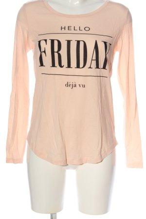 Even & Odd Langarm-Bluse pink-schwarz Casual-Look