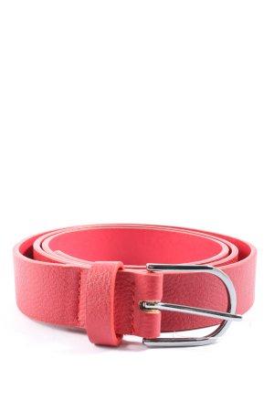 Even & Odd Cinturón de cuero de imitación rojo look casual