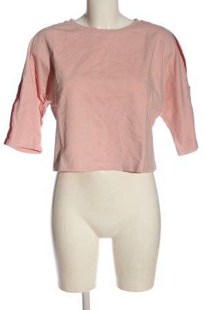 Even & Odd Manica lunga rosa-rosso motivo a righe stile casual