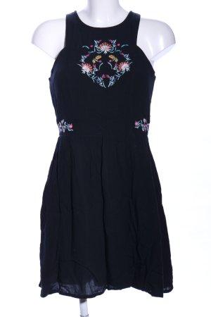 Even & Odd Minikleid schwarz Blumenmuster Casual-Look