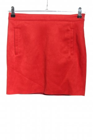 Even & Odd Mini rok rood casual uitstraling