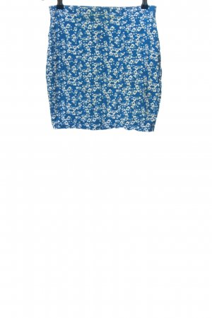 Even & Odd Mini rok blauw-wit volledige print casual uitstraling