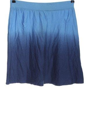 Even & Odd Mini rok blauw kleurverloop casual uitstraling