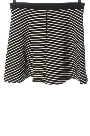Even & Odd Mini rok zwart-wit volledige print casual uitstraling