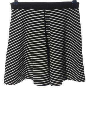 Even & Odd Mini rok zwart-wit gestreept patroon casual uitstraling