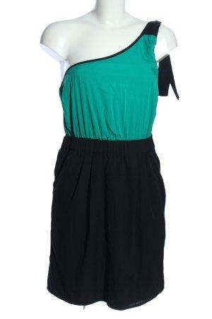 Even & Odd Robe asymétrique turquoise-noir style décontracté