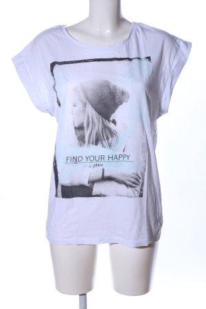 Even & Odd Print-Shirt weiß Motivdruck Casual-Look