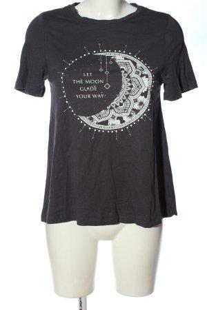 Even & Odd Camicia fantasia grigio chiaro-bianco Stampa a tema stile casual