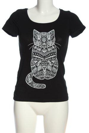 Even & Odd Print-Shirt schwarz-weiß Motivdruck Casual-Look